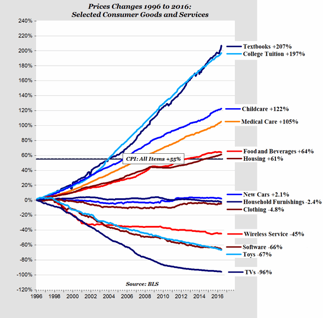 price changes for selected consumer goods and services since 1996 Detrivore Diagram recent blog posts